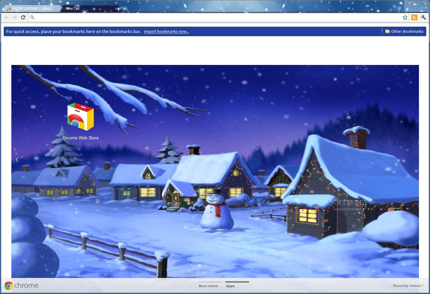 SNOW CHROME Theme screenshot 1