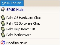 SPUG Forums Menu screenshot 1