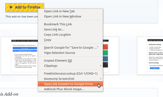 Save to Google Drive screenshot 3