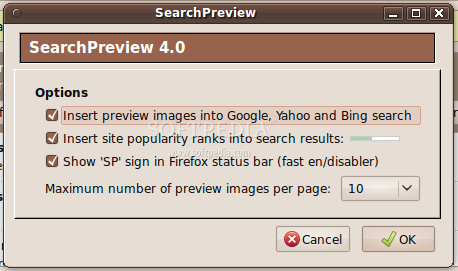 SearchPreview for Firefox screenshot 2