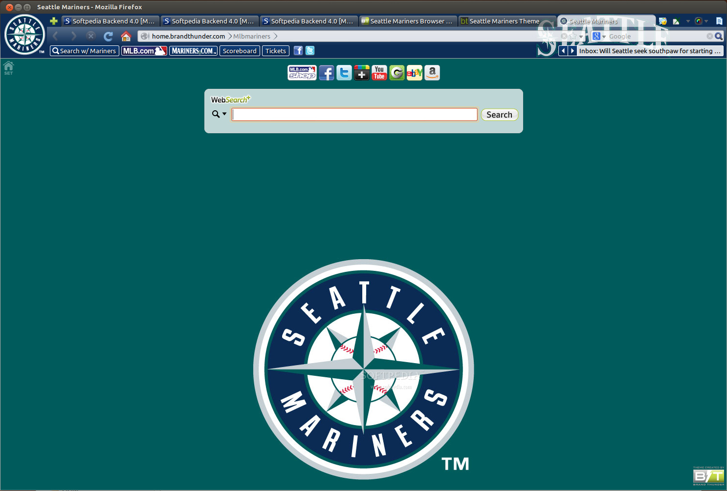 Seattle Mariners for Firefox screenshot 1