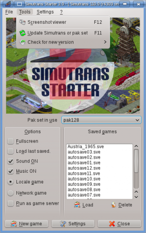 Simutrans Starter screenshot 2