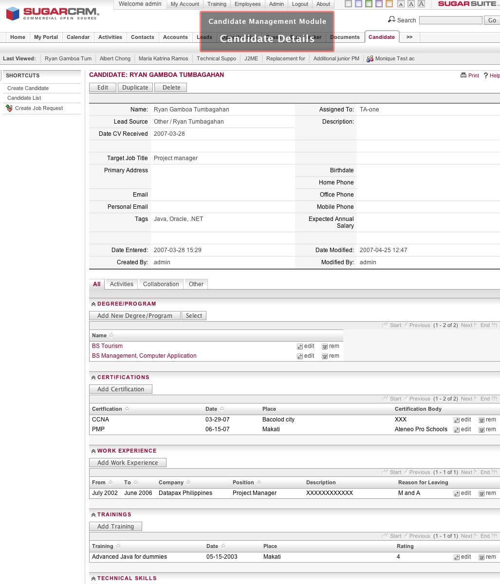 Download SpiceHire for SugarCRM Linux 1.0.4