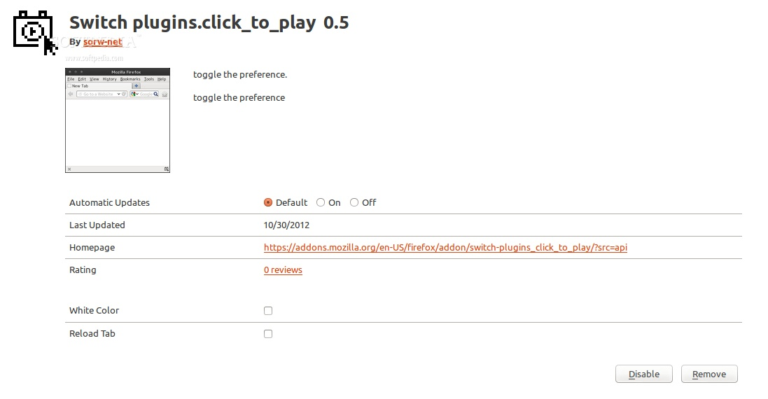 Switch plugins.click_to_play screenshot 3