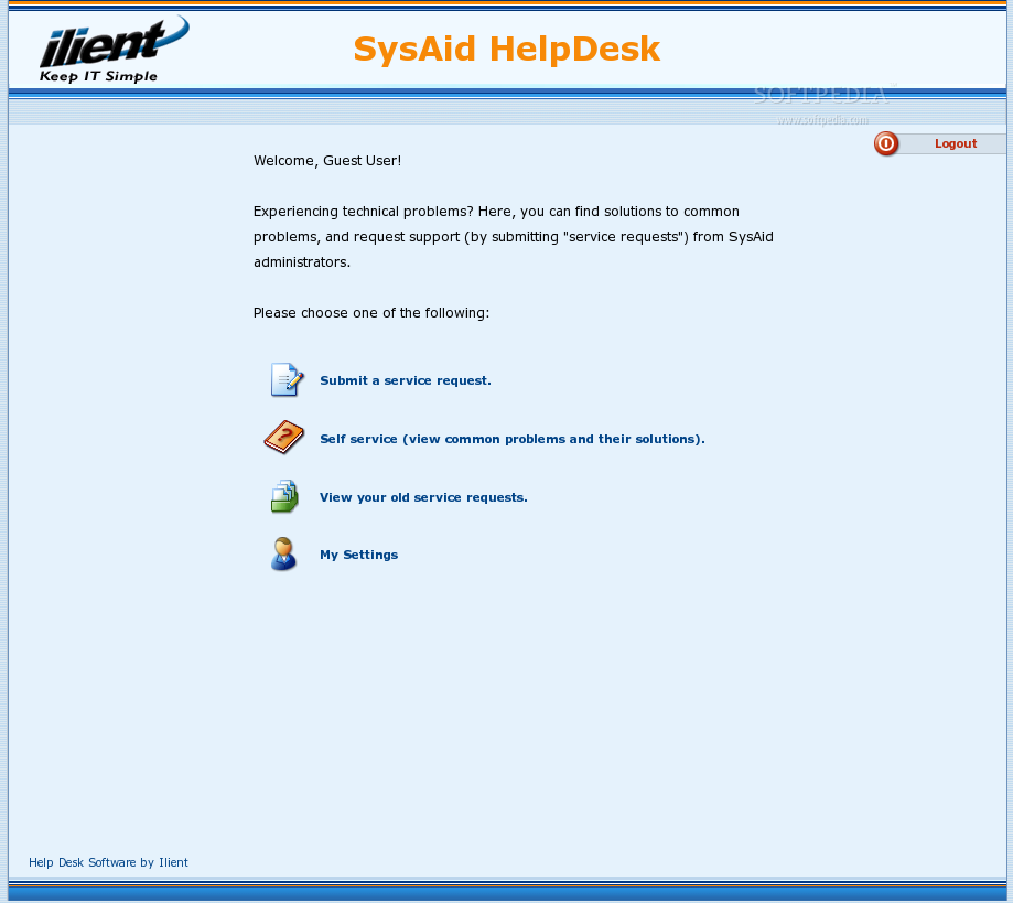 SysAid screenshot 1