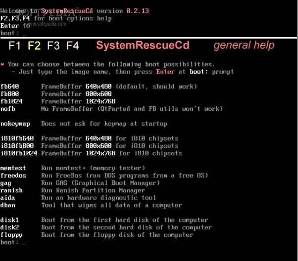 SystemRescueCd screenshot 2