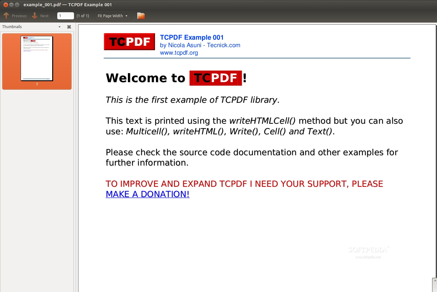 Download TCPDF Linux 6 2 12