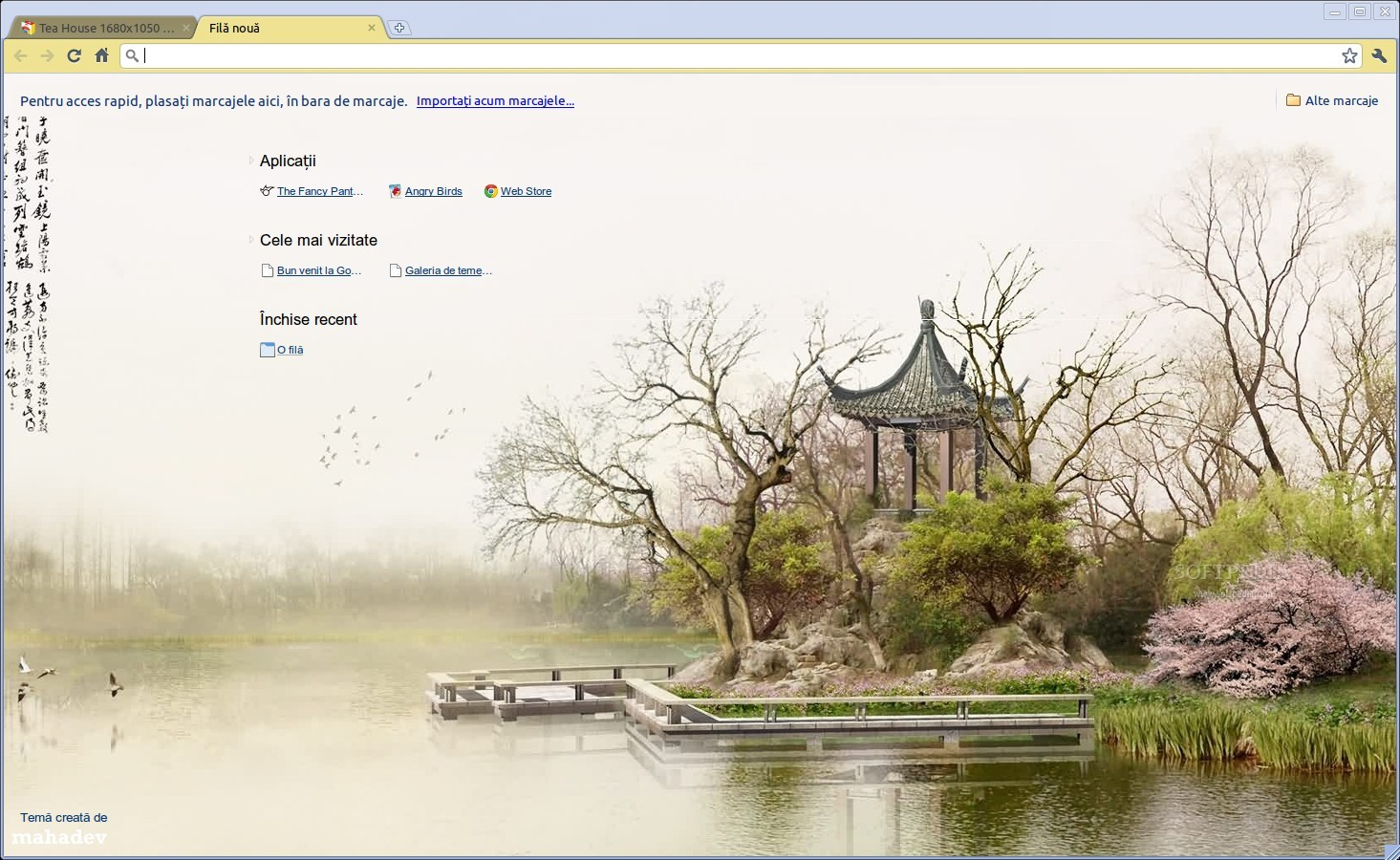 Tea House 1680x1050 Theme screenshot 1