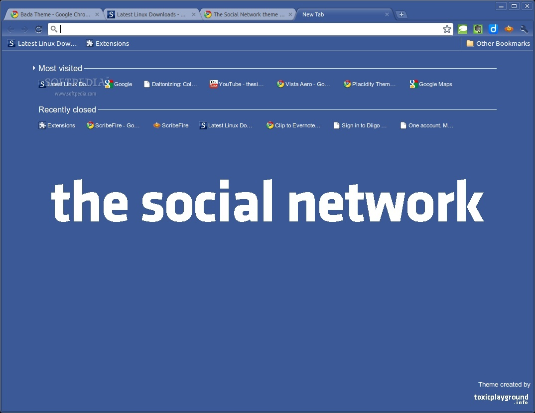 The Social Network theme II screenshot 1
