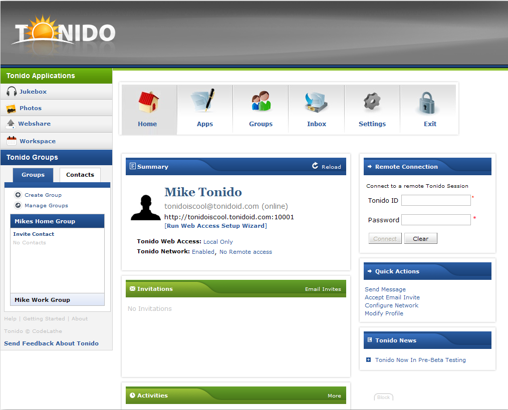 Tonido screenshot 6