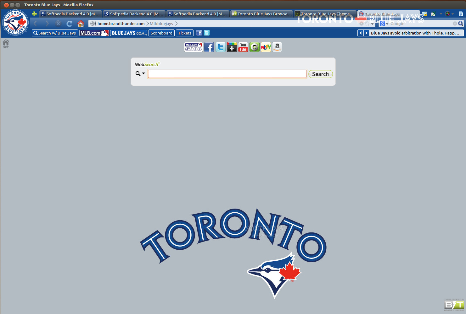 Toronto Blue Jays for Firefox screenshot 1