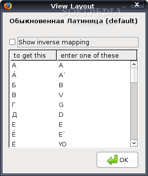 Transliterator screenshot 2