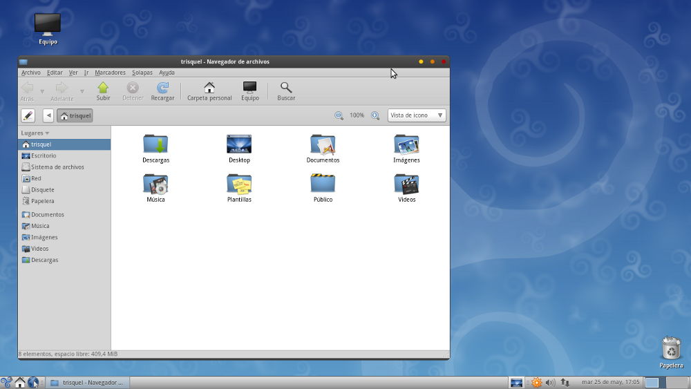 Trisquel Elementary Theme screenshot 1