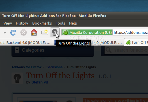 Turn Off the Lights for Firefox screenshot 1