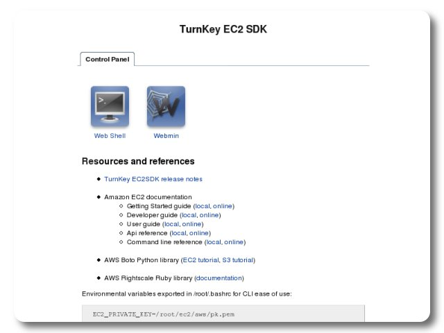 TurnKey EC2 SDK Live CD screenshot 1