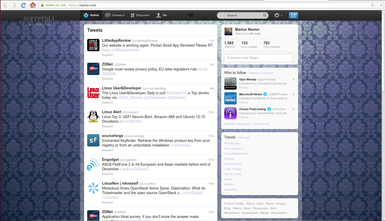 Twitter Side Switcher screenshot 1