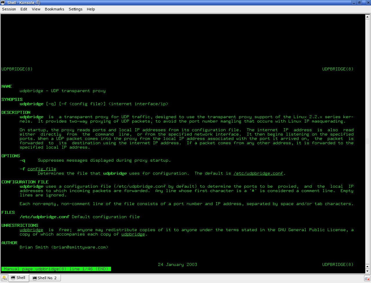 UDP Bridge screenshot 1