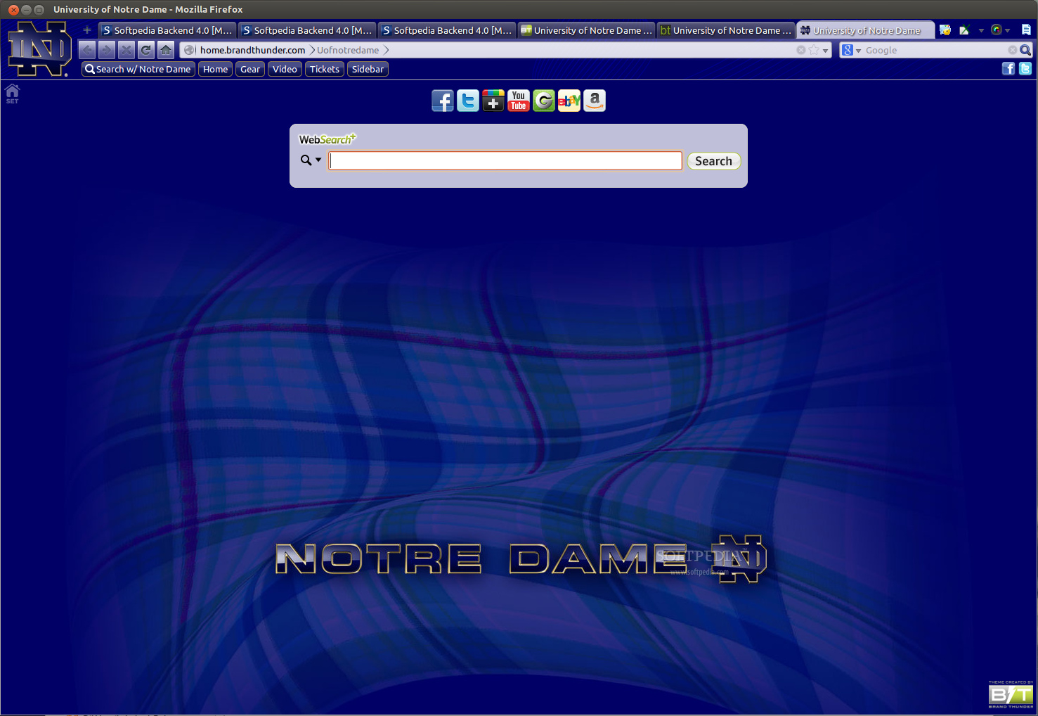 University of Notre Dame for Firefox screenshot 1