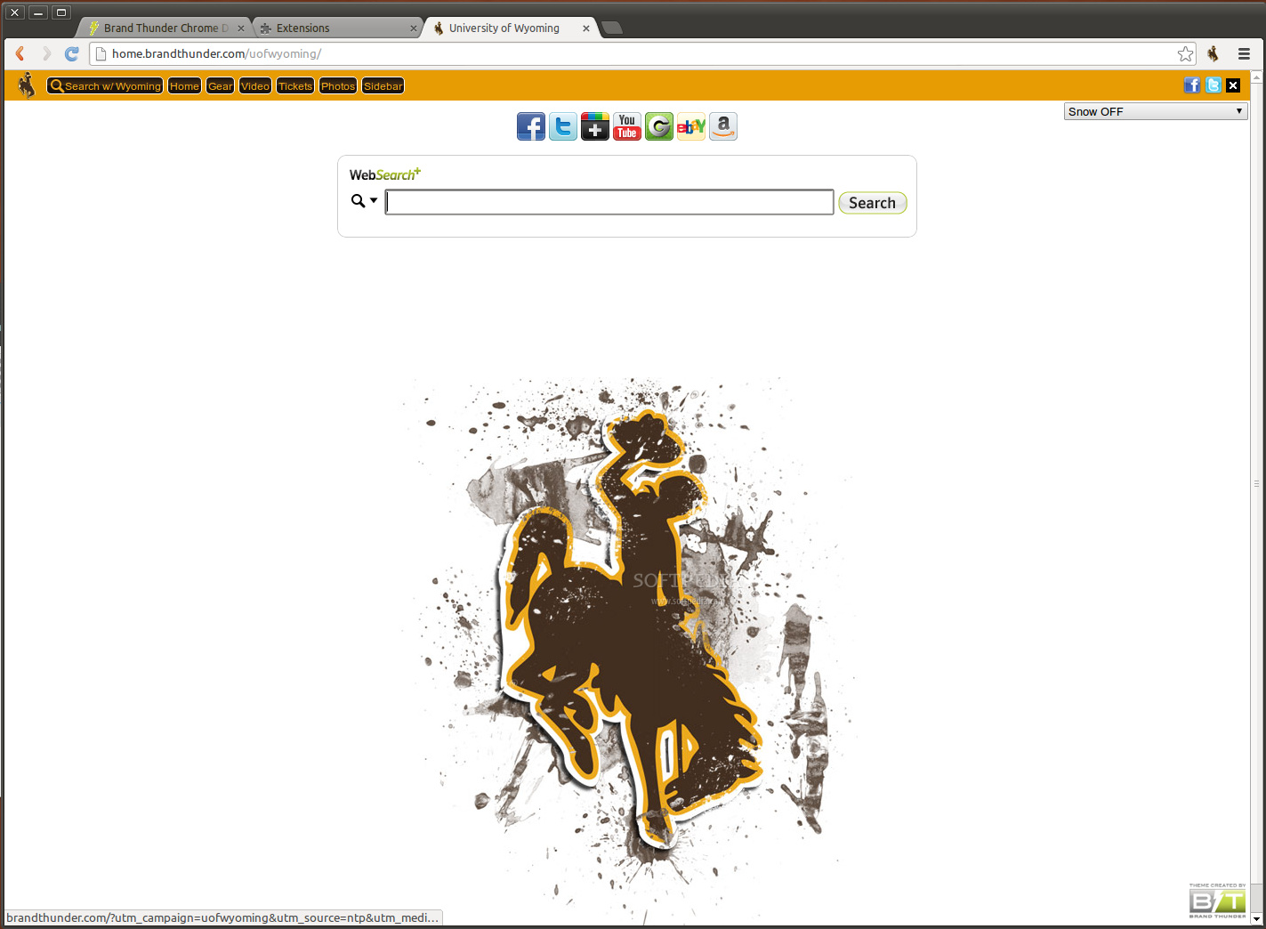 University of Wyoming for Google Chrome screenshot 1