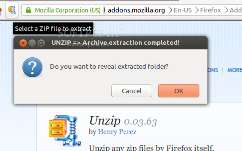Unzip screenshot 1