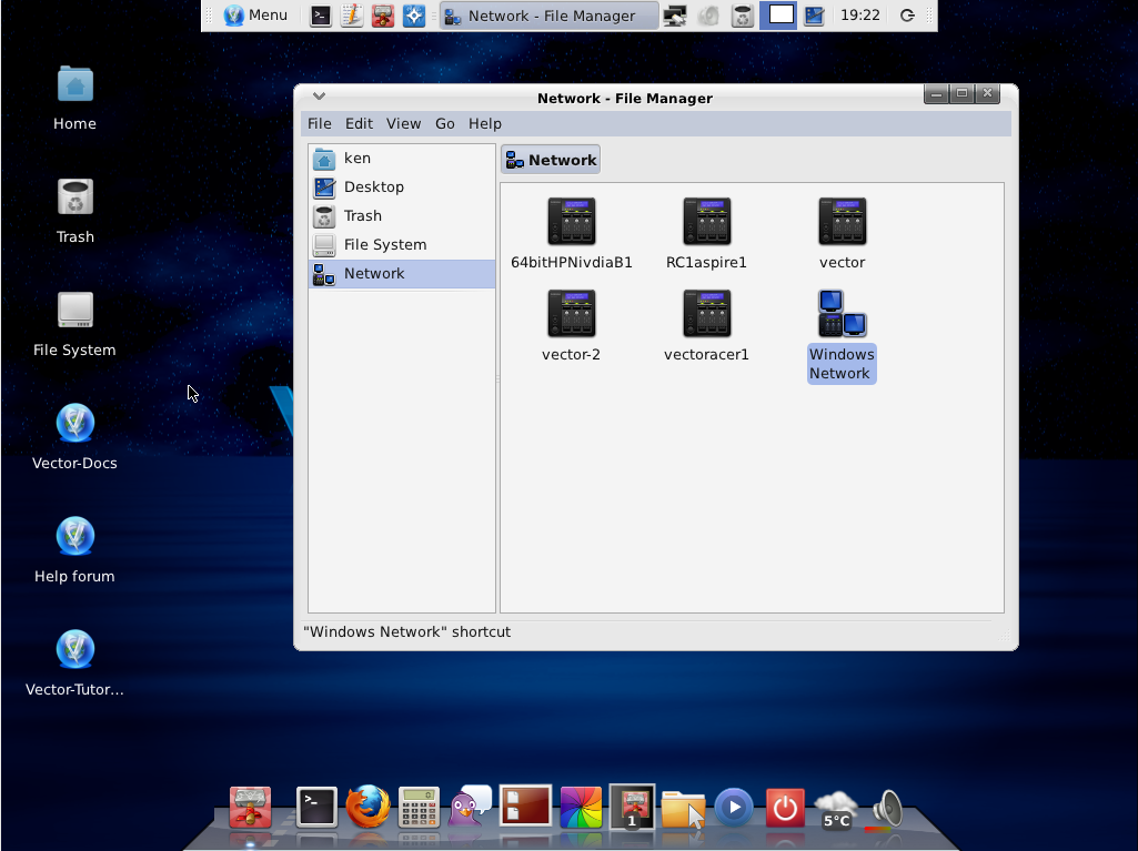VectorLinux 64-bit screenshot 1
