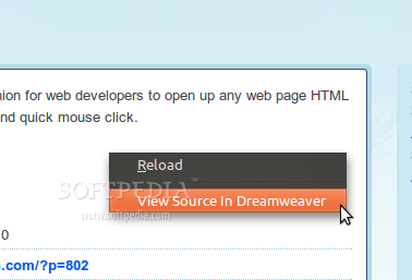 View Source In Dreamweaver screenshot 1