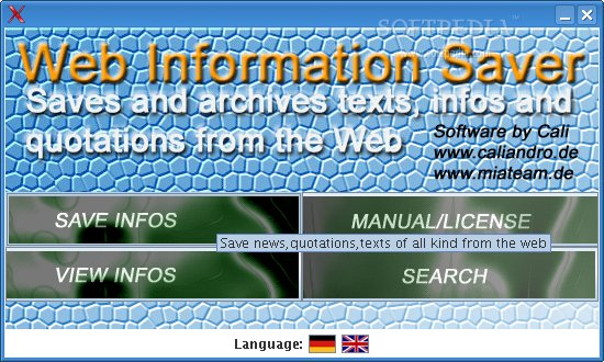 Web Information Saver screenshot 2