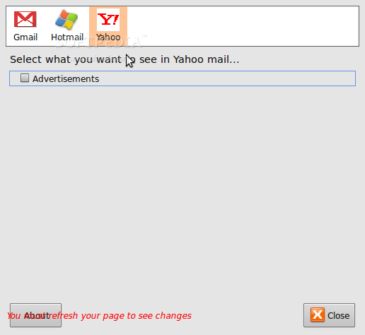 WebMail Ad Blocker screenshot 1