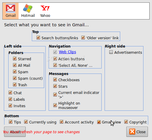 WebMail Ad Blocker screenshot 3