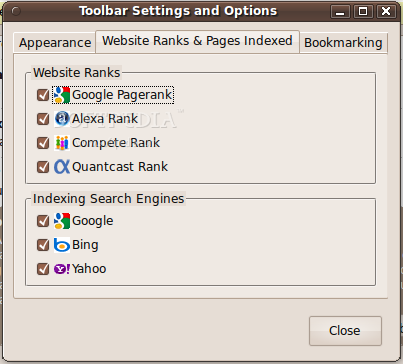WebRank Toolbar screenshot 3