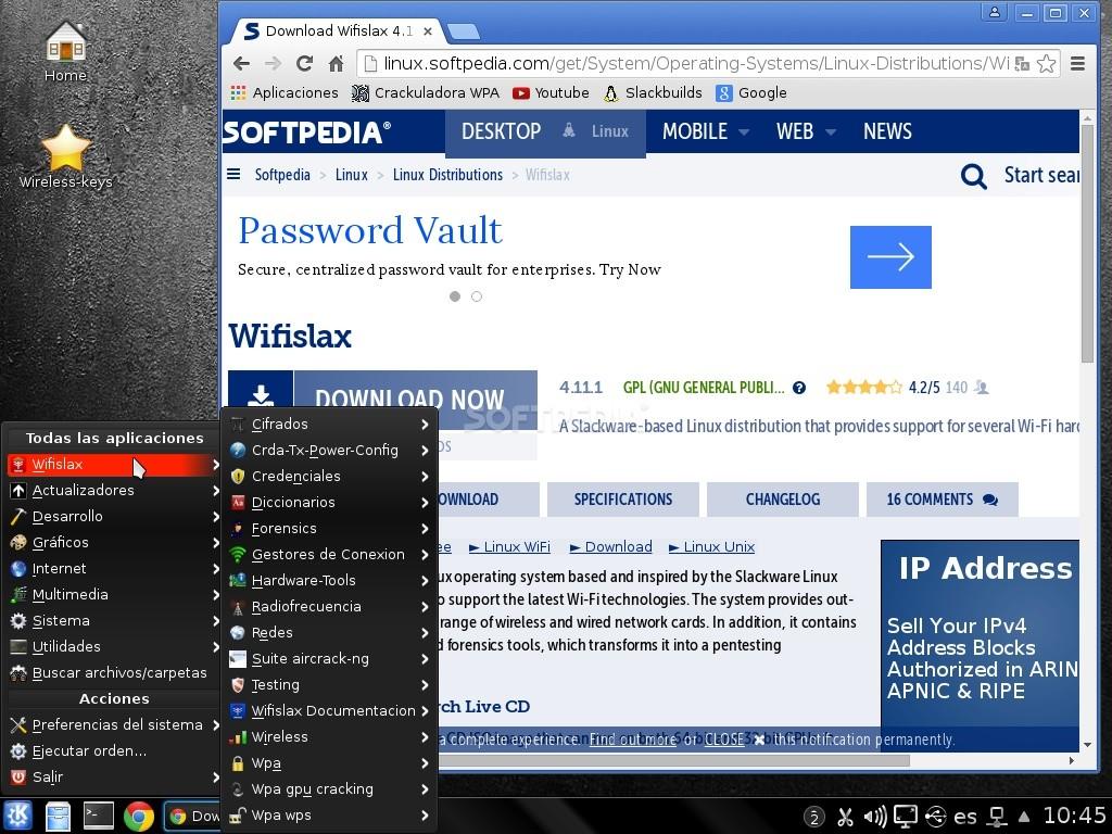 wifislax 4.12 iso 32 bits