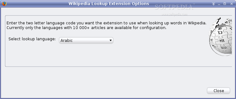 Wikipedia Lookup Extension screenshot 1