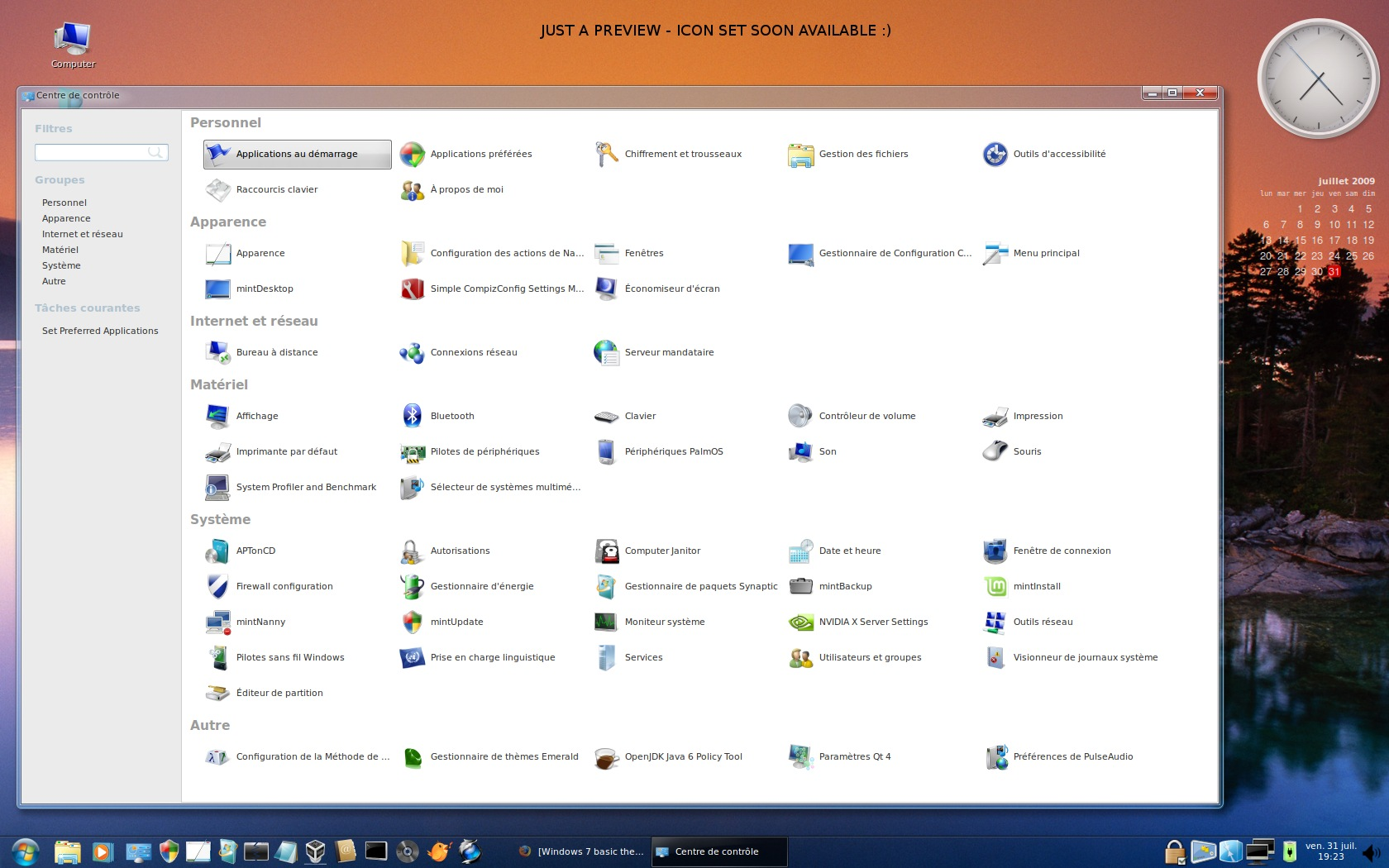 Windows 7 basic theme lookalike screenshot 3