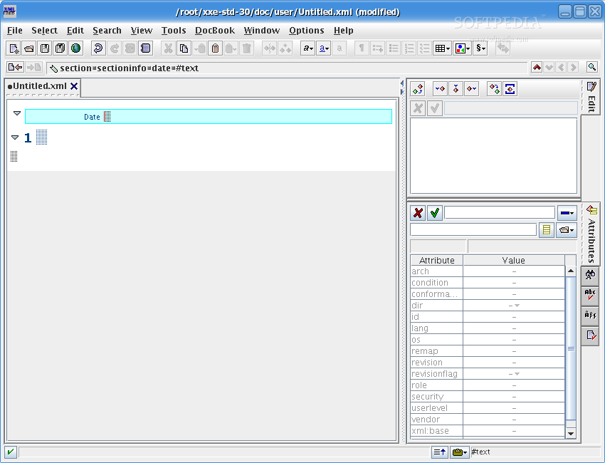 XMLmind XML Editor screenshot 1