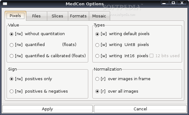 XMedCon screenshot 1