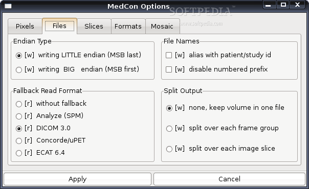 XMedCon screenshot 2