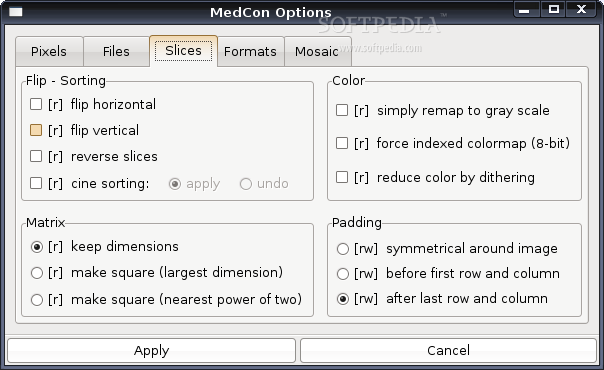 XMedCon screenshot 3