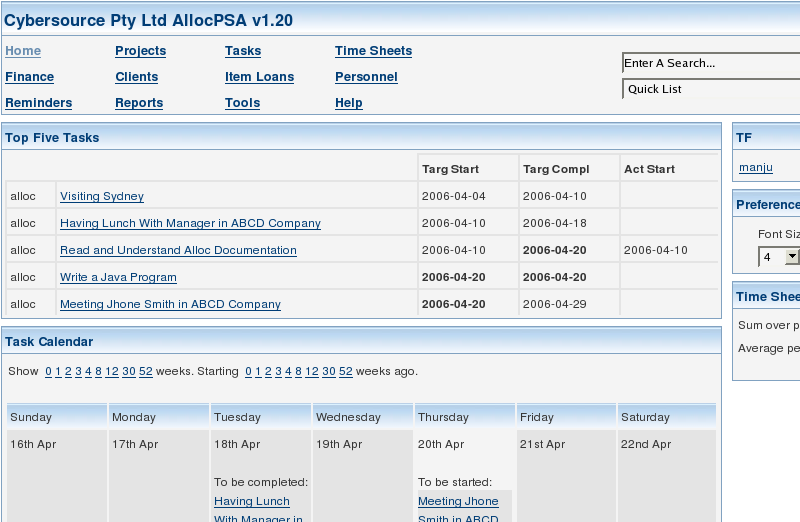 allocPSA screenshot 1