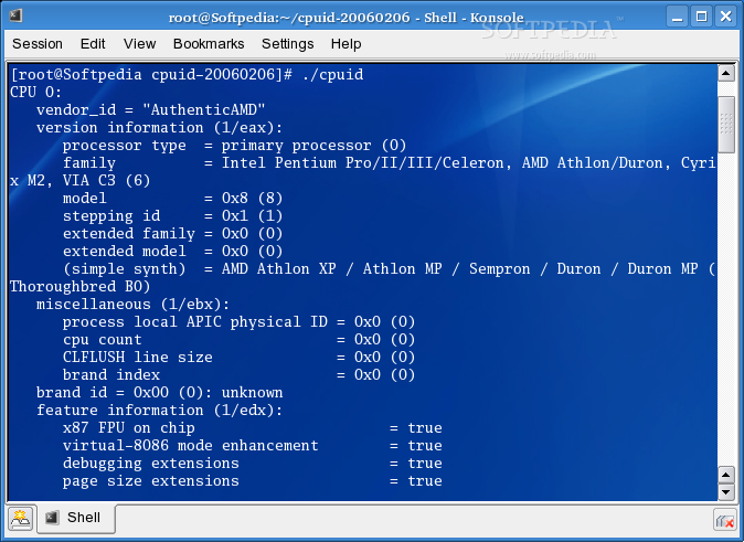 Download cpuid 2 Linux 20140123