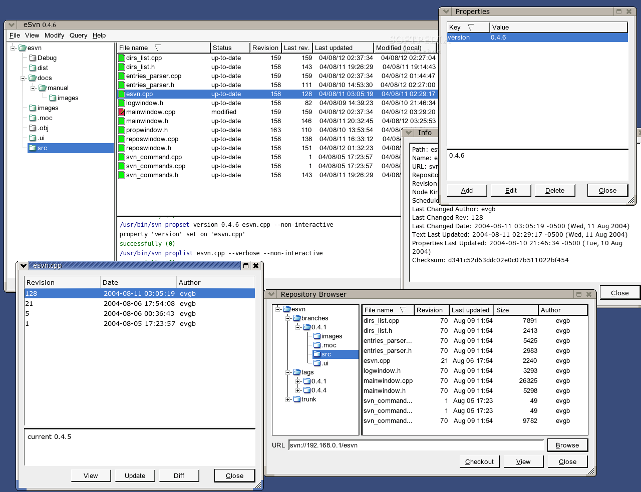 eSvn screenshot 2