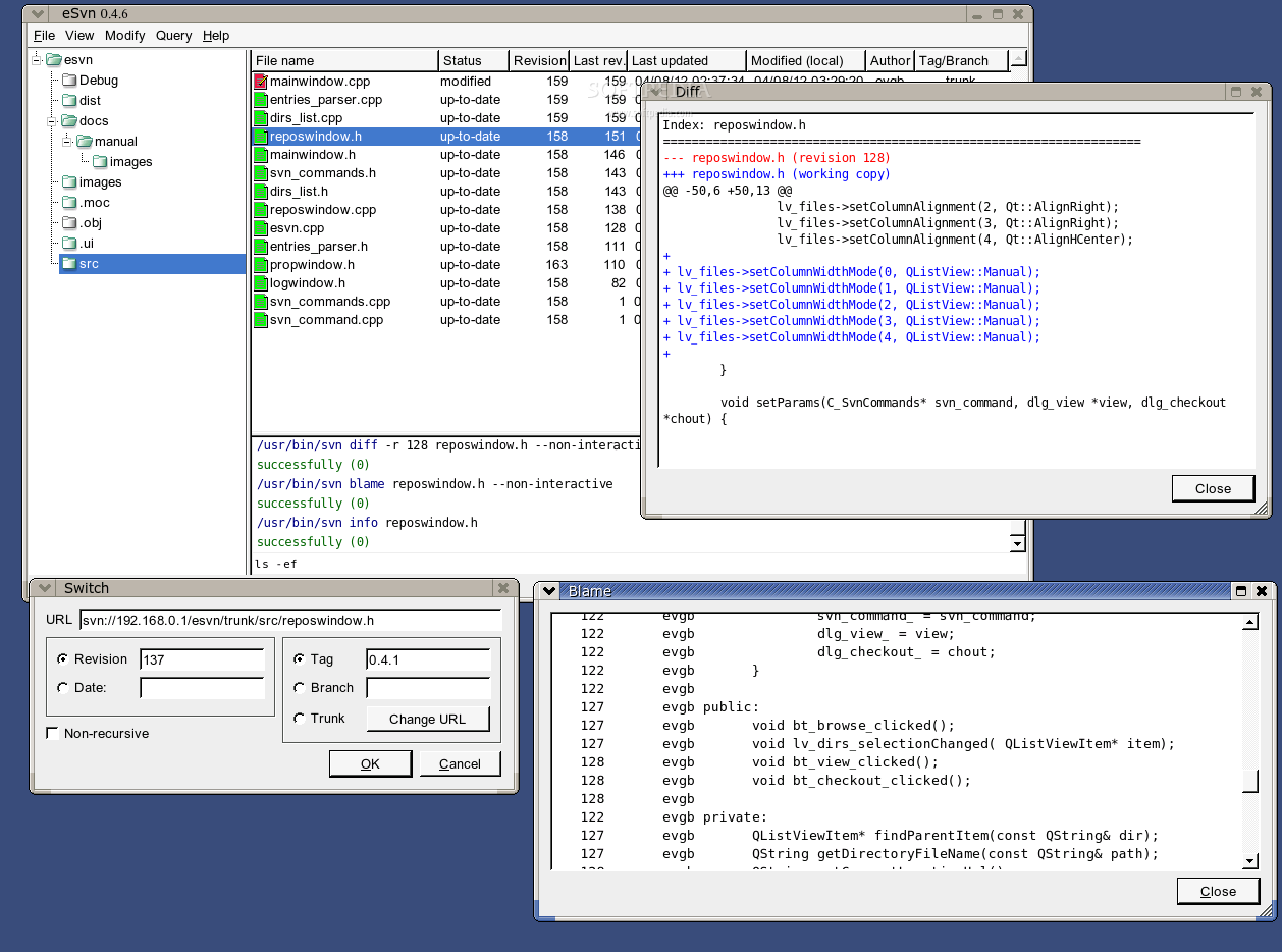 eSvn screenshot 3