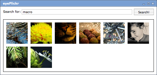 eyeFlickr screenshot 1