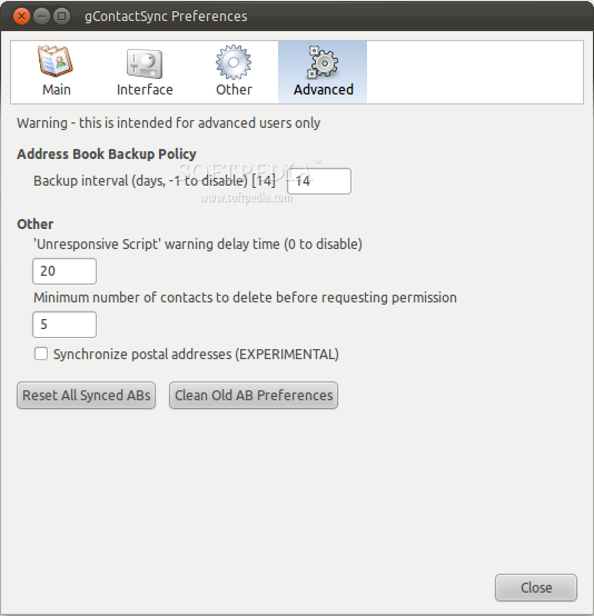 gContactSync for Thunderbird screenshot 2