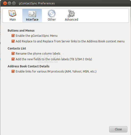 gContactSync for Thunderbird screenshot 4