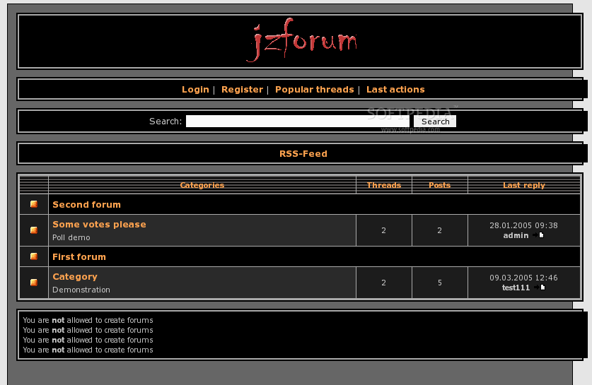 jzForum screenshot 1