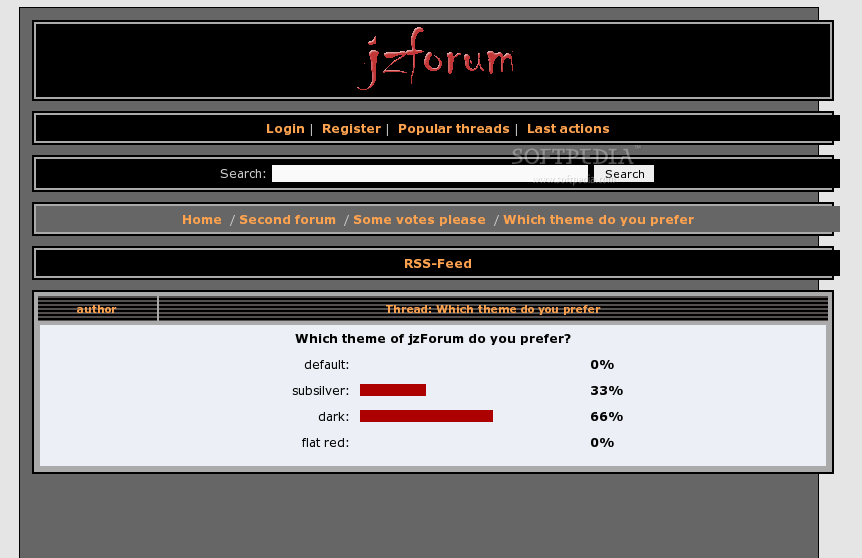 jzForum screenshot 2