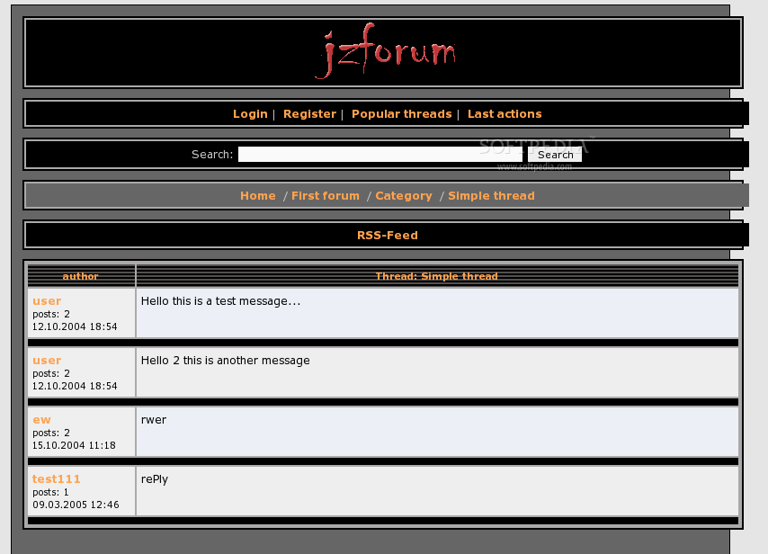 jzForum screenshot 3