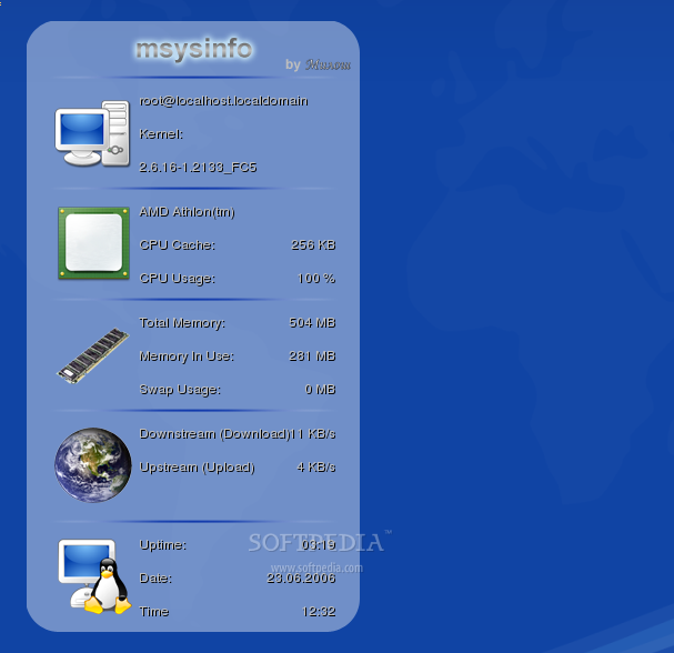 msysinfo screenshot 1