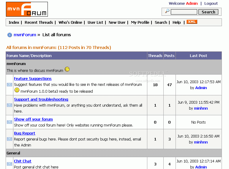 mvnForum screenshot 1