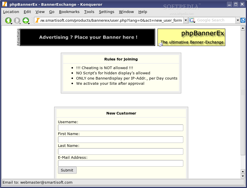 phpBannerEx screenshot 3